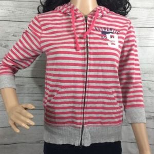 Cocoa Authentic Vintage Hoodie Small Pink Striped
